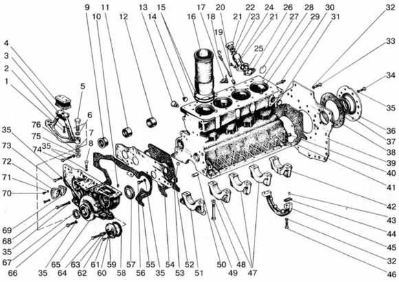 Подвеска и блок цилиндров Д-240,243,245