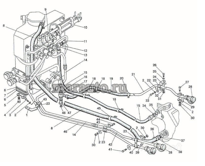 Гидроагрегаты и арматура (ГНС с гидроподъемником) мтз-80/82 (Вариант)
