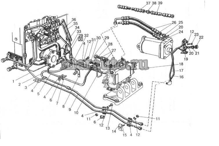 Гидроагрегаты и арматура мтз-80/82. Вариант с силовым регулятором