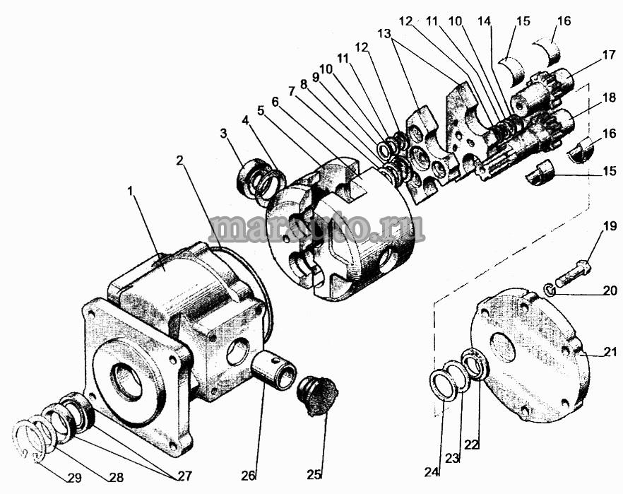 Насос шестеренный НШ32А-3 для мтз-80/82