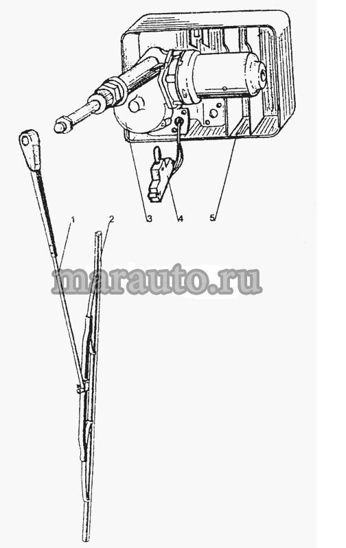 Стеклоочиститель заднего стекла мтз-80/82