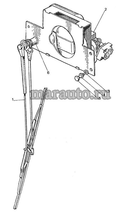 Стеклоочиститель переднего стекла мтз-80/82