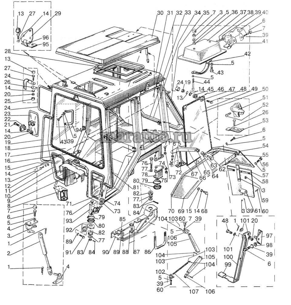 Кабина трактора мтз-80/82. Крылья задние мтз-80/82