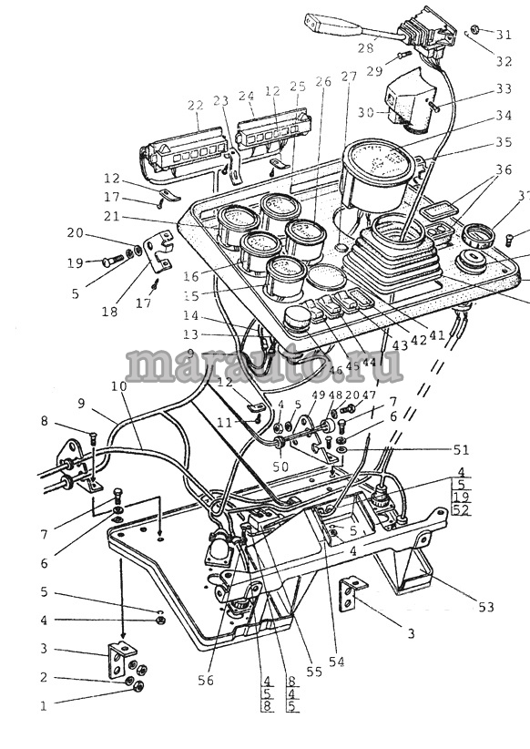 Основание, приборы мтз-80/82. Вариант -1